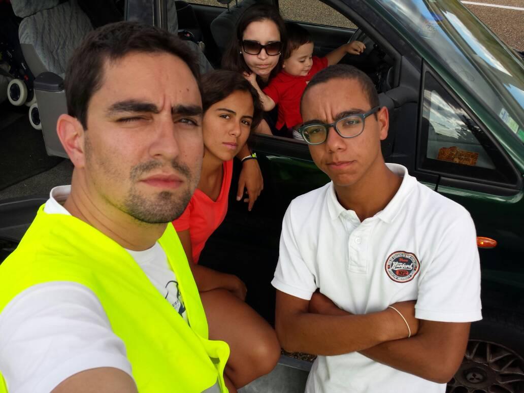 Selfie de regreso a Portugal