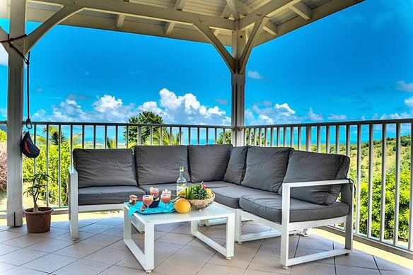 Villa terrasse vue mer Martinique