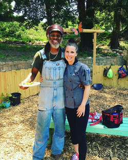 Serious #farmtofork Quite the team this summer _trulylivingwell #Farmer Maurice & #Chef Lara work to