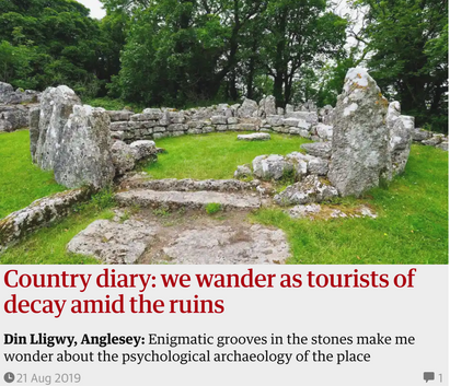 Country diary: we wander as tourists of decay amid the ruins. 21 Aug 2019