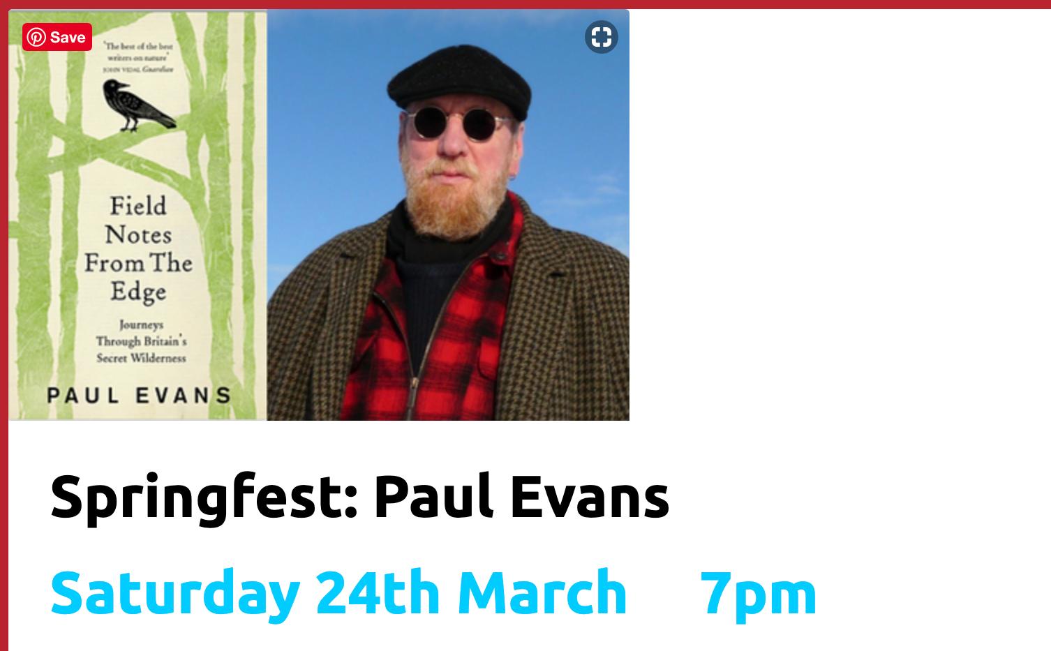 Springfest: Paul Evans Lancaster March 2018