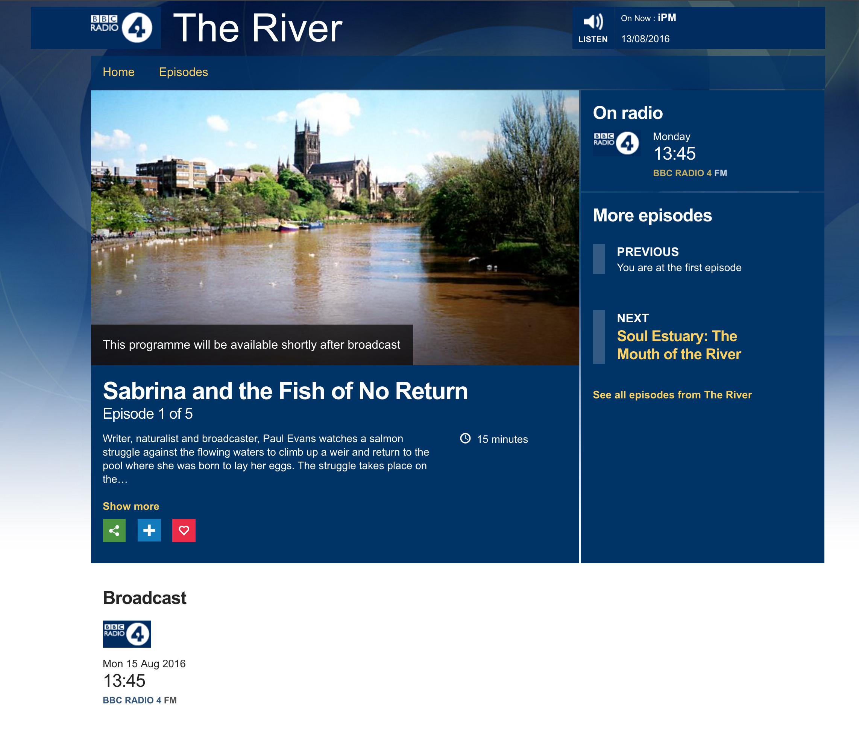 BBC radio 4 The River