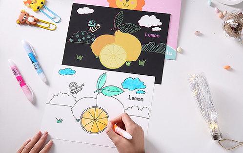 Scratch Kids Fruits et Légumes 10 pages