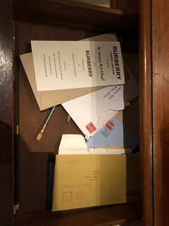 Desk dressing not for sale