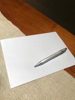 White C5 envelope