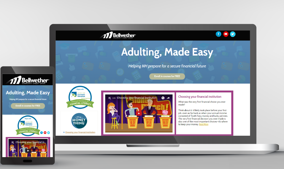 Financial literacy website for young adults