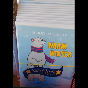Faculty appreciation card with hand drawn polarbear mascot