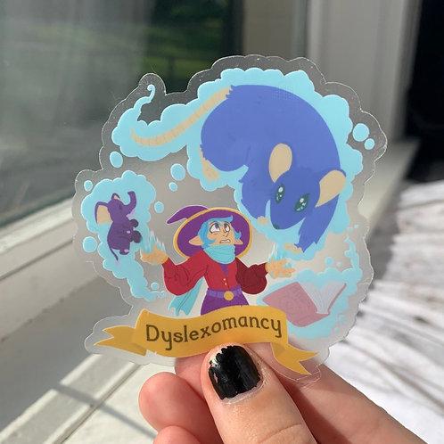 CHARITY Dyslexomancy (Dyslexia Mechanics) Sticker
