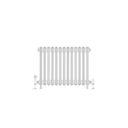 Ashdown 4 Column 660 x 808 (3861 BTU's)
