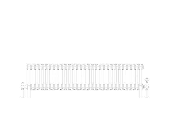 Cornel 3 Column 300 x 1374 (3276 BTU's)