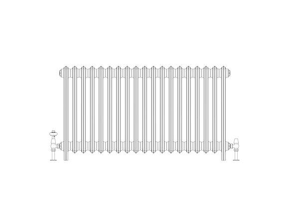 Ashdown 4 Column 660 x 1168 (5643 BTU's)