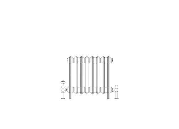 Ashdown 6 Column 485 x 508 (2568 BTU's)