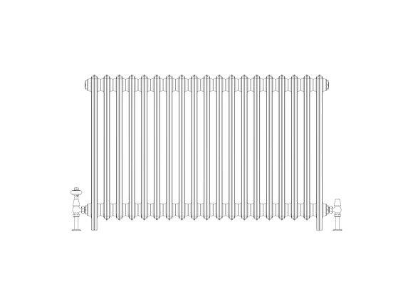 Ashdown 6 Column 760 x 1168 (9538 BTU's)