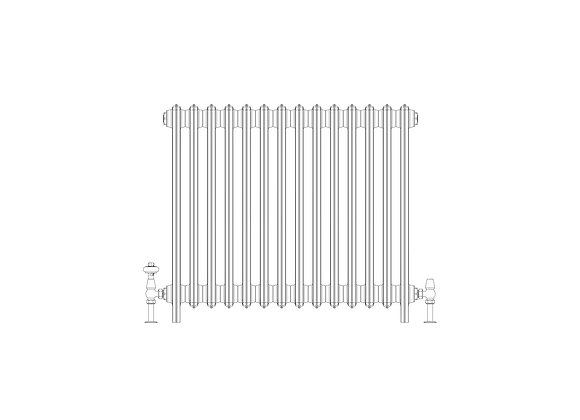 Ashdown 6 Column 760 x 868 (7028 BTU's)