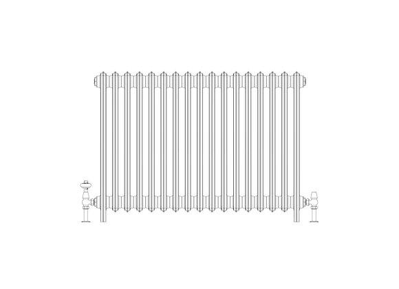 Ashdown 6 Column 760 x 1048 (8534 BTU's)
