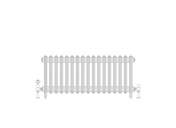 Ashdown 6 Column 485 x 1048 (5457 BTU's)