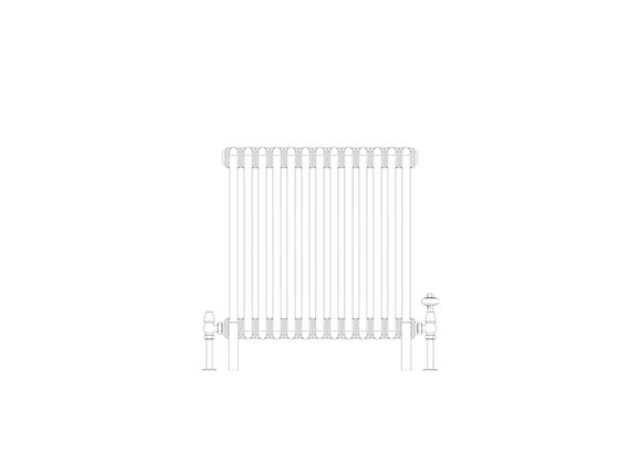 Cornel 3 Column 600 x 609 (2661 BTU's)