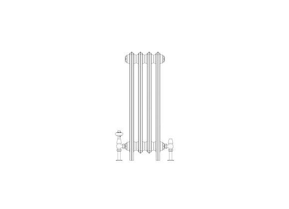 Ashdown 4 Column 760 x 268 (1380BTU's)