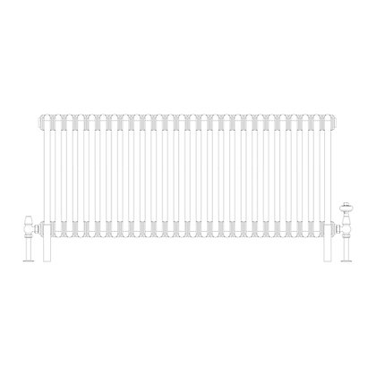 2 Column 500 x 1194 (3194 BTU's)
