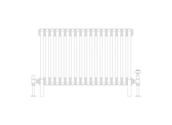 Cornel 2 Column 500 x 834 (2211 BTU's)