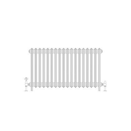 Ashdown 4 Column 660 x 1108 (5346 BTU's)