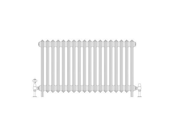 Ashdown 6 Column 665 x 1108 (7794 BTU's)