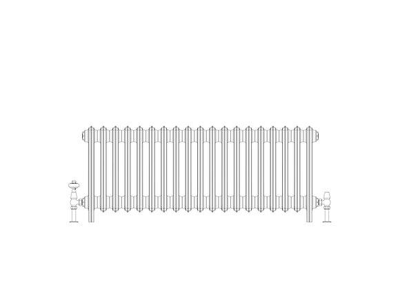 Ashdown 6 Column 485 x 1168 (6099 BTU's)