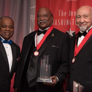 Health and Medicine Awardee Dr. John Robinson with past-Awardee Dr. Edwin J. Nichols
