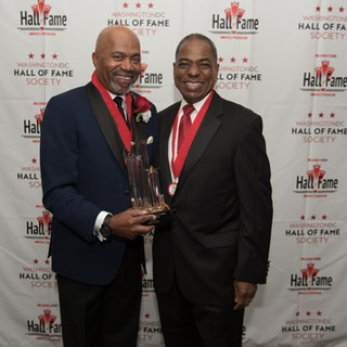 Government and Politics Awardee Kerwin Miller with past-Awardee Vincent Orange, Jr.