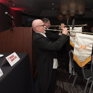 Trumpeters announcing the start of the DC Hall of Fame GALA