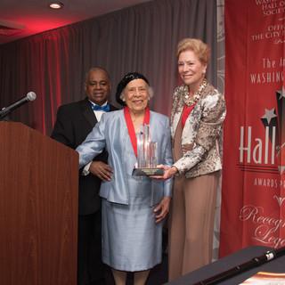 Cultural Arts Awardee Therrell Smith with past-Awardee Dorothy Pierce McSweeny
