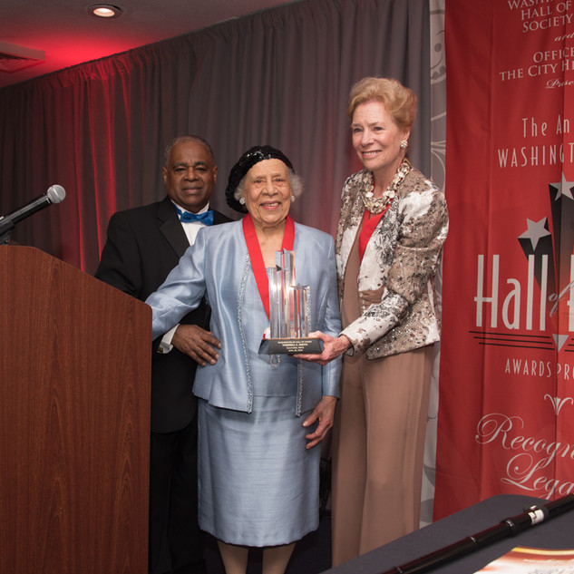 Cultural Arts Awardee Therrell Smith with past-Awardee Dorothy Pierce McSweeny