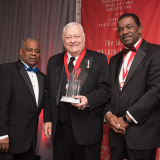 Education Awardee Dr. Stephen Trachenberg with past-Honoree Dr. Franklin Smith