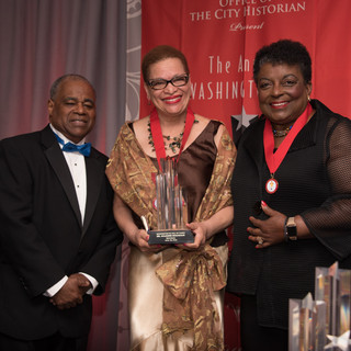 National Awardee Dr. Julianne Malveaux with past-Awardee Cora Masters Barry