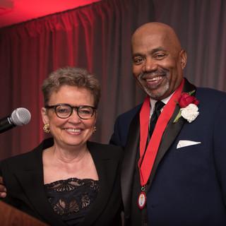 EmCee Former Mayor Sharon Pratt with Government/Politics Awardee Kerwin Miller