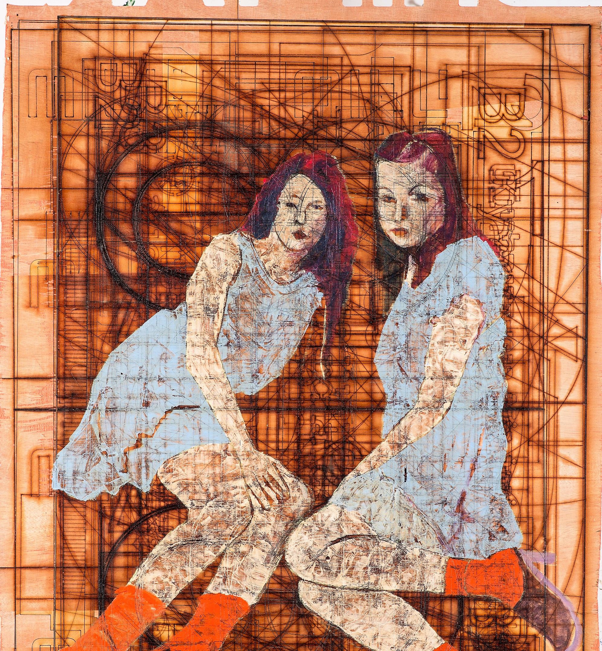 Eliaz Slonim,Pose III ,Mixed media on wood,100x80cm,2018,Unique Artwork - web