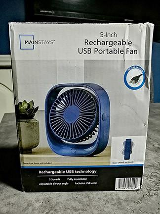 Mainstays Ventilador Recargable por USB
