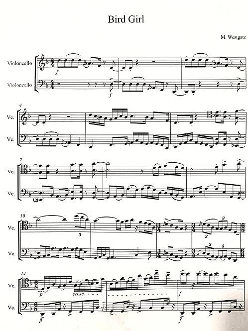 BirdGirl for Cello Duo