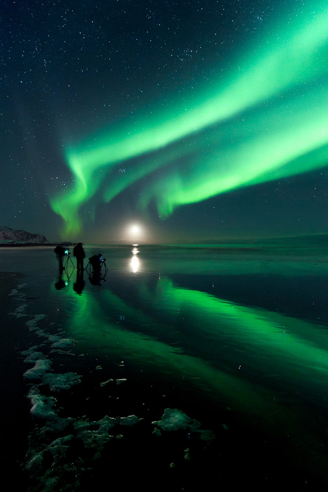 Norway Lights on the Moon