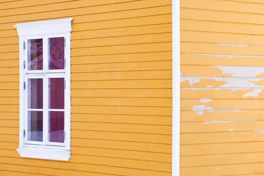 Yellow Wooden Boards in Hamnoy
