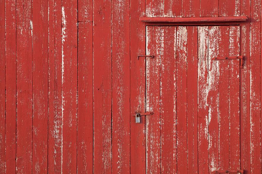 Red Wooden Boards in Eggum