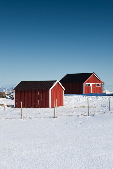 Two red shack in Gymsoya