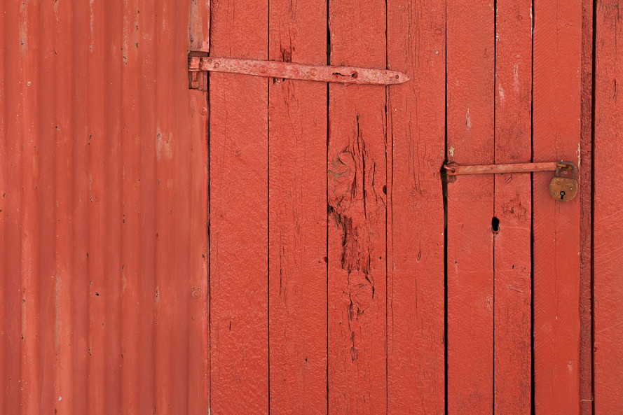 Orange Wooden Boards in Eggum