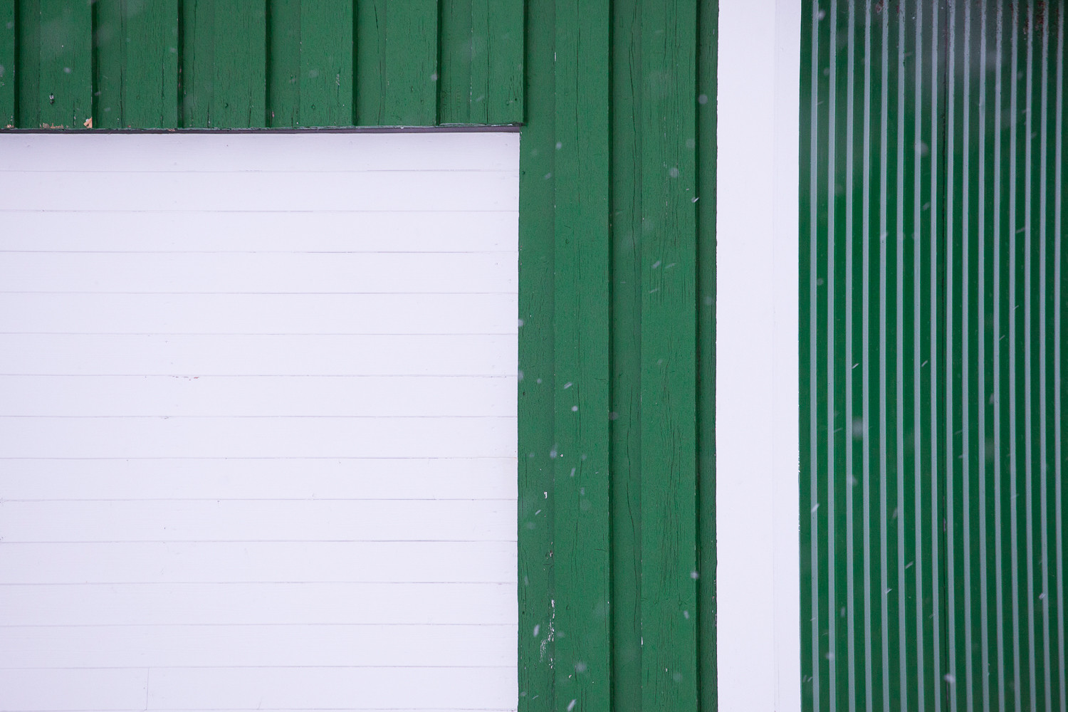 Green Wooden Boards in Hamnoy