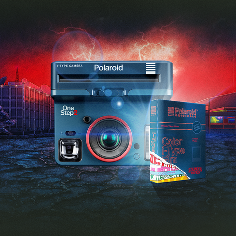 POLAROID ORIGINALS + STRANGER THINGS camera and film packaging