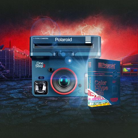 POLAROID ORIGINALS x STRANGER THINGS camera and film packaging