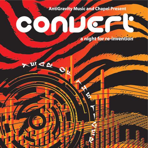 ANTIGRAVITY MUSIC Convert flyer / poster design