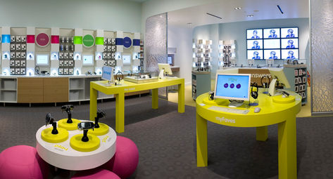 T-MOBILE Playground theme retail design