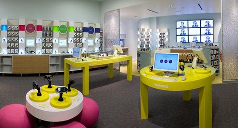 T-MOBILE Playground theme retail design