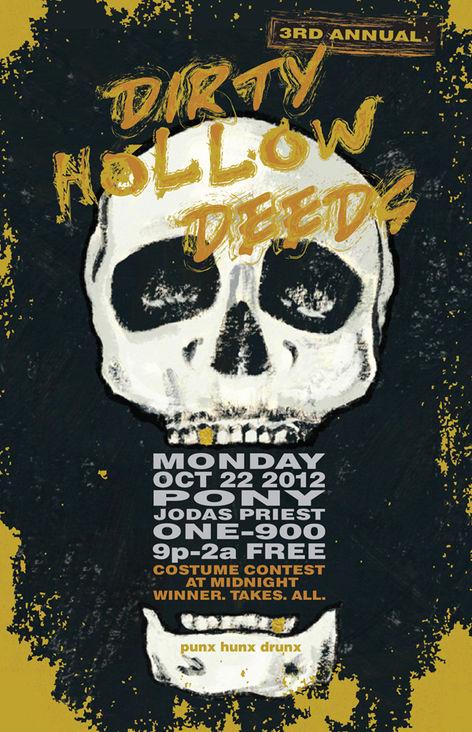 DIRTY DEEDS flyer / poster design